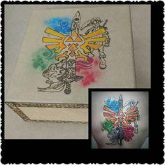 De tatoo para arte na madeira.  #alendadezelda #thelegendofzelda…