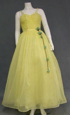 22553845fb05 Vintageous, LLC - Lovely Lemon Yellow 1960's Prom Gown, $180.00 (http:/
