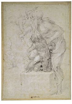 Michelangelo Buonarroti (1475-1564) Sacrifice of Isaac, ca.1535