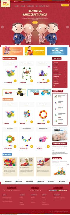 Babyshop Responsive Shopify Theme has a very simple design that is very popular with online Baby shop, handmade, #gift retailer etc.With 3 theme colors and Great slideshow, nice banners making your site more beautiful. #childrenshop