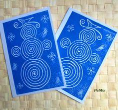 Modré zimní přání / Zboží prodejce PeMa | Fler.