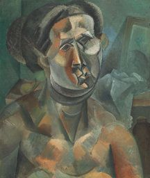 Pablo Picasso Spanish, worked in France, 1881–1973  Head of a Woman, summer 1909  Oil on canvas