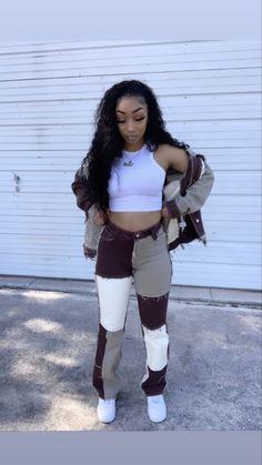 Cute Swag Outfits, Cute Comfy Outfits, Dope Outfits, Retro Outfits, Trendy Outfits, Girl Outfits, Fashion Outfits, Hipster Outfits, Black Girl Fashion