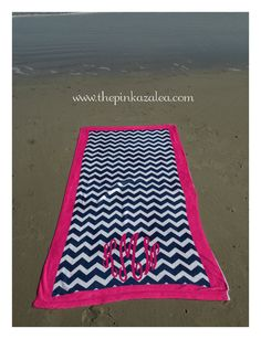 Chevron Beach Towel with Border Beach Towel, Beach Mat, Cute Gifts, Great Gifts, Chevron Bags, All Things Cute, Home Textile, Summertime, Outdoor Blanket