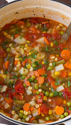 Vegetable Soup - it's hearty, comforting, healthy and 100X better than the canned stuff. LOVED this soup!