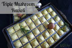 Triple Mushroom Ravioli with Ricotta and Parmesan Cheese @allourway.com