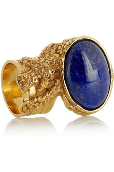 Yves Saint Laurent | Arty gold-plated glass ring | NET-A-PORTER.COM