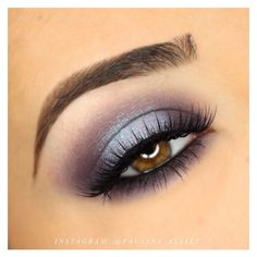 Purple and Blue Halo Smokey Eye MakeUp ❤ liked on Polyvore featuring beauty products, makeup and eye makeup