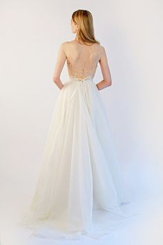Low back wedding dress    See more on www.onefabday.com