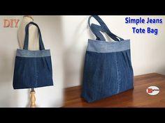 (2) DIY SIMPLE JEANS TOTE BAG | JEANS BAG | DIY TOTE BAG OUT OF RECYCLE OLD JEANS | BAG SEWING TUTORIAL - YouTube Diy Bags Jeans, Diy Old Jeans, Denim Tote Bags, Diy Tote Bag, Denim Bag Tutorial, Purse Tutorial, Denim Bag Patterns, Purse Patterns, Sewing Patterns