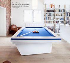 Salão de jogos dentro de casa. Veja: http://casadevalentina.com.br/blog/detalhes/salao-de-jogos-dentro-de-casa-2834  #details #interior #design #decoracao #detalhes #decor #home #casa #design #idea #ideia #charm #charme #casadevalentina #game #jogos #mesadejogos