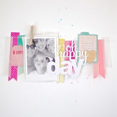 #papercraft #scrapbook #layout.  Oh happy day by NinasDesign at @Studio_Calico