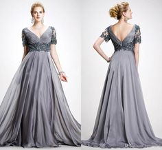 Free shipping, $120.61/Pieza:buy wholesale Elie Saab Vintage madre de novia 2016 vestidos de una línea V cuello apliques de gasa más el tamaño de vestido de noche de la madre sin respaldo Gray Prom Vestidos from DHgate.com,get worldwide delivery and buyer protection service.