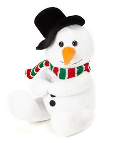 Take a look at this Snowman Plush Toy by The Petting Zoo on #zulily today!
