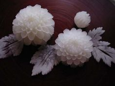 Amazing flowers from fruits and vegetables