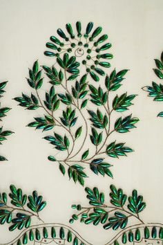 beetle wing embroidery of 1830-1832 Henry Art Gallery.