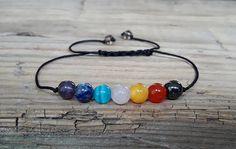 Seven chakra stone bracelet energy bracelet yoga bracelet https://bellanblue.com