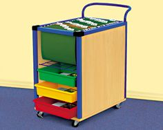 File and Store Mobile Cart Not only for back to school night but for parent teacher conferences; have everything handy and looked organized for parents and can roll it out of the way when class starts and roll it right back for the post class conferences Classroom Furniture, Classroom Supplies, Classroom Activities, Classroom Decor, Classroom Hacks, Classroom Design, Daycare Spaces, Home Daycare, Daycare Organization