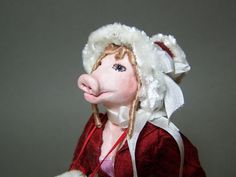 Pig Faced Lady  a ooak miniature figure / doll 12th by CWPoppets, $135.00