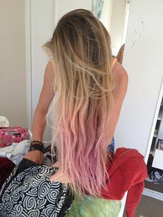 Add some Pink, ombre hair extensions.
