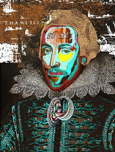Odd pop art Shakespeare (?) portrait.