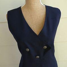 Vintage Airlines Uniform Flight Attendant Stewardess Dress Aviation Costume 10 T