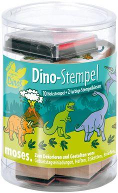 Mit diesem Stempelset Dino was ihr bei www.party-princess.de bekommen könnt könnt ihr wunderbar die Einladungen für euren Dinosaurier Kindergeburtstag selber gestalten. Die Stempel sind aber auch ein süßes Geschenk für die Gäste.