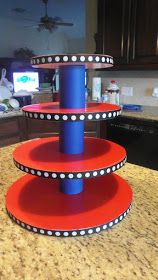 I saw that going differently in my mind...: DIY cake and/or cupcake stand...