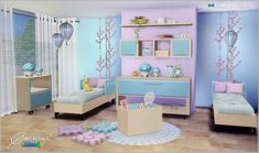 Lana CC Finds - Kids Room Cotton Whisper by SIMcredible!