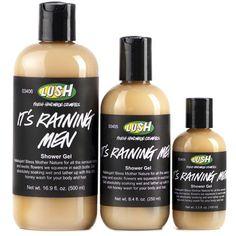 It's Raining Men body wash - Smells like honey! Super soft on the body & lathers well.