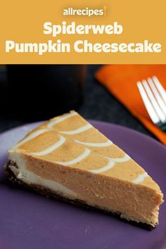 Bake this spiderweb pumpkin cheesecake for the best Halloween or fall dessert recipe! Make the crust by combing gingersnap cookies, pecans, and butter. Then, top it with the cheesecake mixture made from cream cheese, pumpkin puree, pumpkin spice blend, and vanilla. Whether you're baking this pumpkin cheesecake for a Halloween party or Thanksgiving dinner, your friends and family will love it!