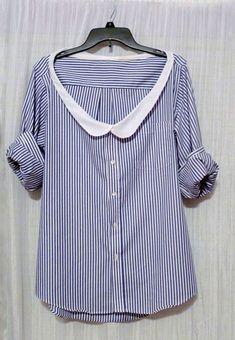 Блузки и платья из мужской рубашки