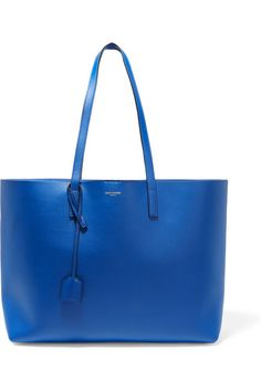 Bright-blue textured-leather (Calf) Snap-fastening tab at open top 72ee858d0ed68