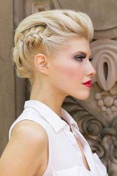 Luxury Bridal Hairstyles for Short Hair Videos - Hairstyle Women Summer Hairstyles, Up Hairstyles, Pretty Hairstyles, Braided Hairstyles, Wedding Hairstyles, Braided Updo, Edgy Updo, Hairstyle Braid, Elegant Updo
