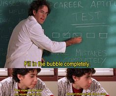 My thoughts exactly, Gordo. Every time we take a test