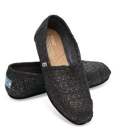 Styled like the traditional Argentinian alpargata, this slip-on pair features a glittery wool upper for chic style, and cushioning and a rubber sole for comfortable, slip-resistant steps. With every pair of shoes you purchase, TOMS will give a new pair of shoes to a child in need. One for One®.Size note: TOMS run true to size. If you're typically in-between sizes, TOMS recommends ordering smaller since TOMS shoes will stretch with wear.Elastic goreRemovable antimicrobial linerCushioned…