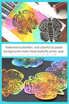 Butterfly Prints Two Cheerful Printmaking Ideas The - These Cheerful Butterfly Prints Start With A Simple Styrofoam Plate And A Free Template Two Printmaking Options Mean You Already Have What You Need To Get Started Today The Butterfly Printing Plate Elementary Art Rooms, Art Lessons Elementary, Kindergarten Art Projects, 3rd Grade Art, Butterfly Art, Butterfly Crafts, Art Plastique, Teaching Art, Art For Kids
