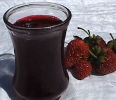 Strawberry syrup - This is the recipe I made last night....haven't tasted it since it cooled but want to remember in case it's perfect!