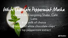 White Chocolate Peppermint Mocha #PeppermintMocha #HealthyLiving
