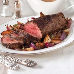 Beef Tenderloin with Red-Wine Shallot Gravy | Enjoy this recipe and for great motivation, health and fitness tips, check us out at: www.betterbodyfitnessbootcamps.com Follow us on Facebook at: www.facebook.com/betterbodyfitnessbootcamps