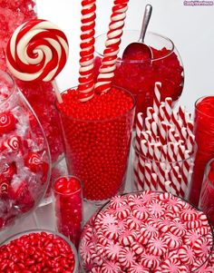 Red Candy and Cookies Chocolates Decorations Edible Mints Wedding Favors Photos & Pictures - WeddingWire.com
