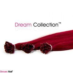 punaisen sävyiset clipon tai sinetti hiuspidennykset 30-50cm