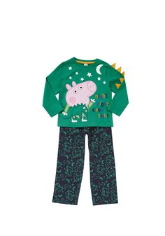 Clothing at Tesco | Peppa Pig Glow In the Dark George Pyjamas > nightwear > Peppa Pig > Character Shop