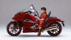 Ha! Kaneda sitting on a Honda NM4. I could see wife wanting this bike.
