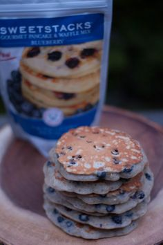 Hearty Oatmeal Blueberry Pancakes:  http://sweetstacks.com/hearty-oatmeal-blueberry-pancakes/
