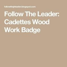 so I am pretty upscale savvy and good with power tools, but teaching a wood working badge to my Cadettes had me stumped. Cadette Girl Scout Badges, Cadette Badges, Girl Scout Activities, Activities For Kids, Girl Scout Camping, Work Badge, Follow The Leader, Daisy Girl Scouts, Girl Scout Crafts