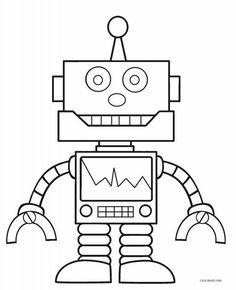 20 Cute Free Printable Robot Coloring Pages Online Robots And