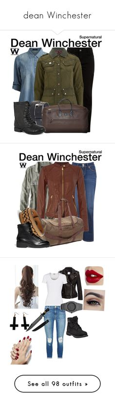 """dean Winchester"" by deancosta ❤ liked on Polyvore featuring Vila Milano, New Look, Barbour International, Susie in the Sky, Bric's, Pierre Dumas, television, wearwhatyouwatch, Levi's and American Eagle Outfitters"