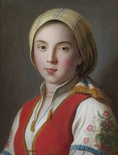 Pietro Antonio Rotari (1707 - 1762) Bildnis einer jungen Frau in bäuerlicher Tracht, Öl auf Leinwand, 45 x 34,5 cm, € 80.000 - 120.000