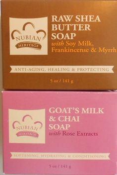 2-PkS -(1)-Nubian Heritage Raw Shea Butter & (1)- Goat's Milk  5oz Bar Soaps #NubianHeritage